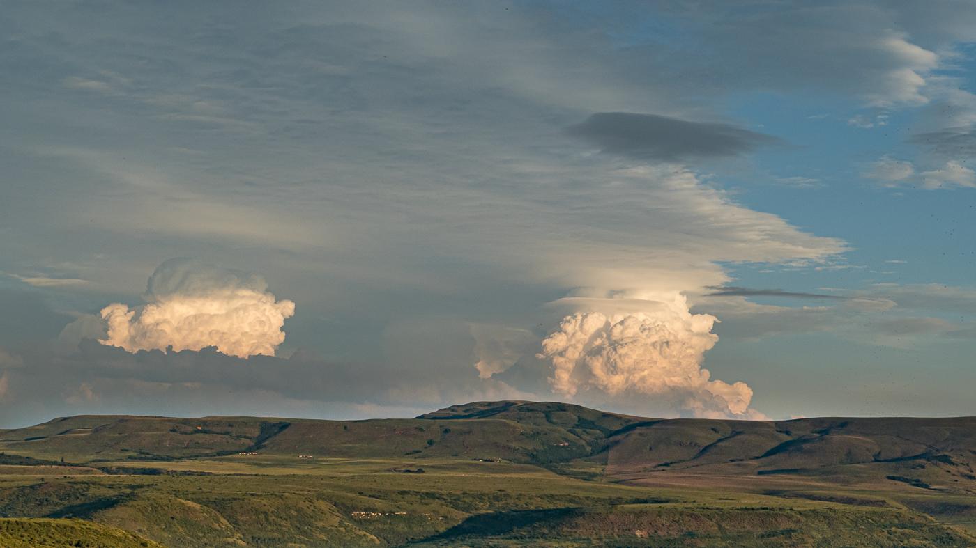 Gewitterwolken bei Wakkerstrom (Südafrika)