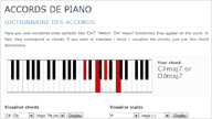 dictionnaire accords piano