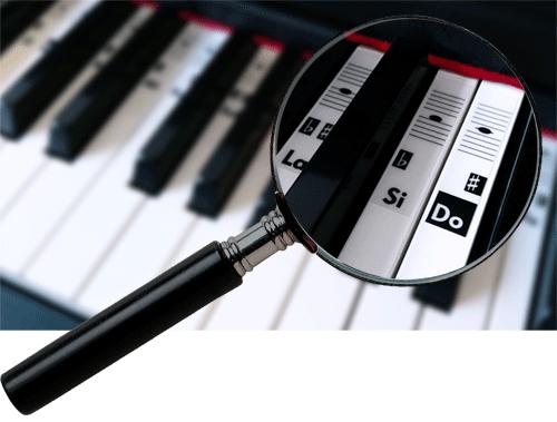 autocollants pour piano