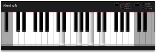 piano clavier ordi