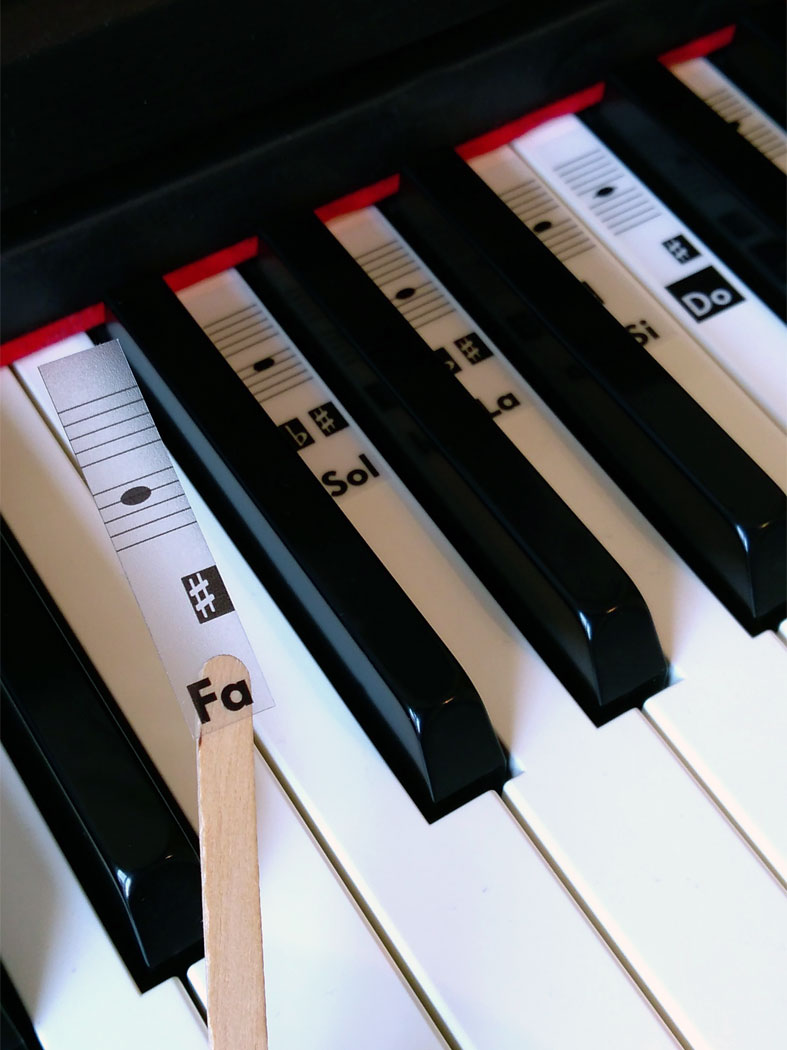 stickers sur piano
