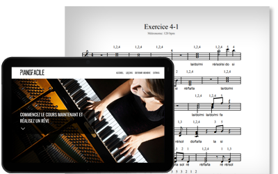 iPad piano partition