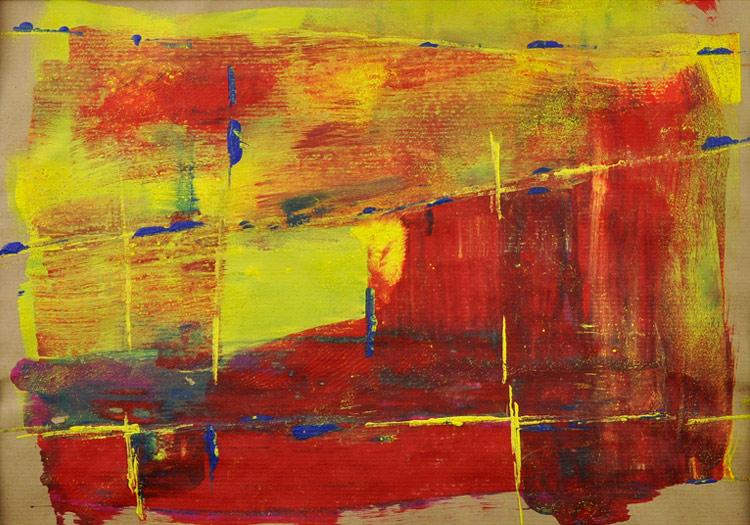 Bild 17 - Acryl  auf Packpapier in Holzwechselrahmen, 40 x 50 cm, © Uli Körber | KOERBERsART | Schefflenz