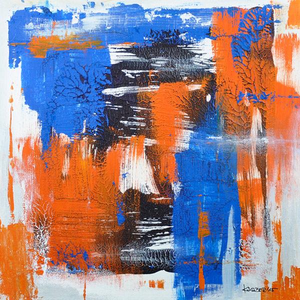 Bild 21 - Acryl  auf Malplatte in Schattenfugenrahmen, 40 x 40 cm, © Uli Körber | KOERBERsART | Schefflenz