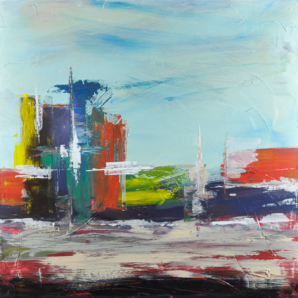 Bild 14 -  3er Serie, Acryl  auf Leinwand, 60 x 60 cm, © Uli Körber | KOERBERsART | Schefflenz