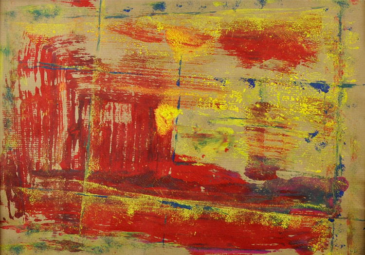 Bild 16 - Acryl  auf Packpapier in Holzwechselrahmen, 40 x 50 cm, © Uli Körber | KOERBERsART | Schefflenz
