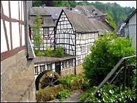 Mühlrad in der Monschauer Altstadt