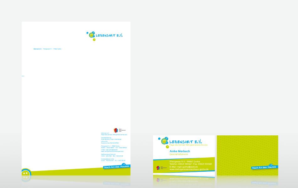 Geschäftausstattung für das Mehgenerationenhaus des Lebensart e.V. Gotha