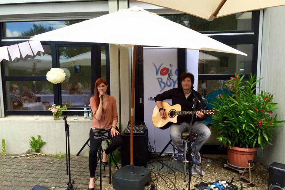 unser Duo 'Irina & Jürgen' auf einer Open-Air-Privatveranstaltung