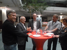 Richard Kalkbrenner, Helmut Beran, Thomas Staab und Klaus Mungel im Fachgespräch