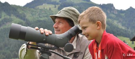 Vogelbeobachtung mit Spektiv