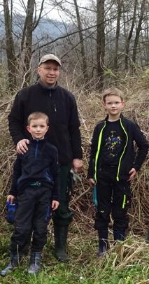 Christoph Mischke mit seinen Söhnen Mark und Patrick