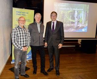 Richard Kalkbrenner, Hartwig Brönner und Jürgen Herzing für den Nationalpark Spessart