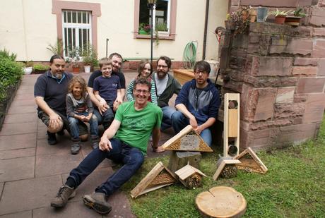 Die stolzen Väter und Kinder mit Hermann Bürgin