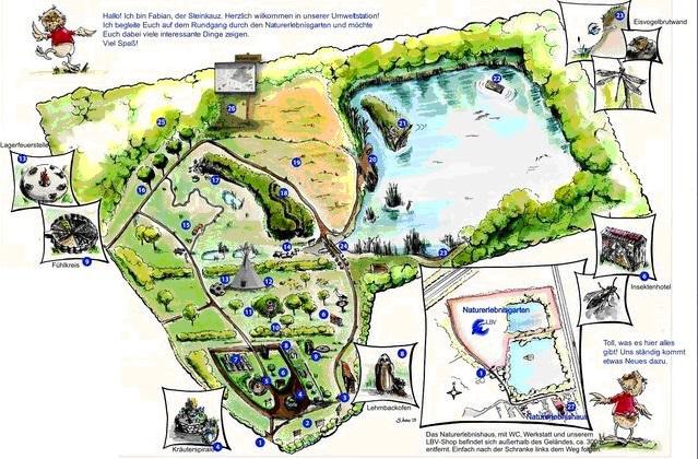 Plan vom Naturerlebnisgarten