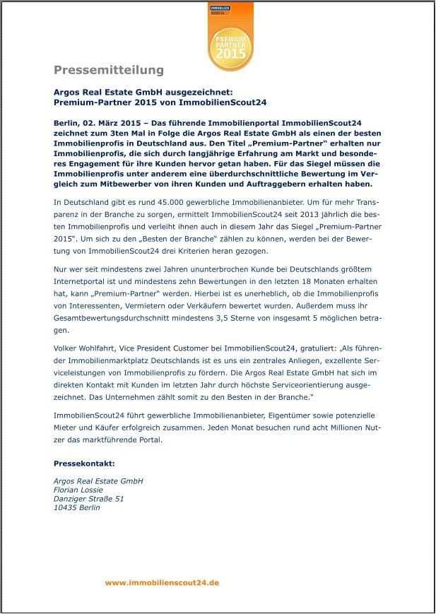 Pressemitteilung Premium-Partner 2015