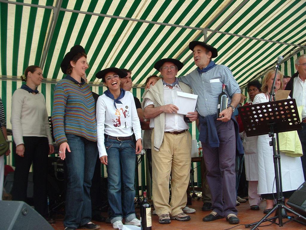2007 l'Ikastola et La Negresse finissent 1° exécos au Concours Gastronomique