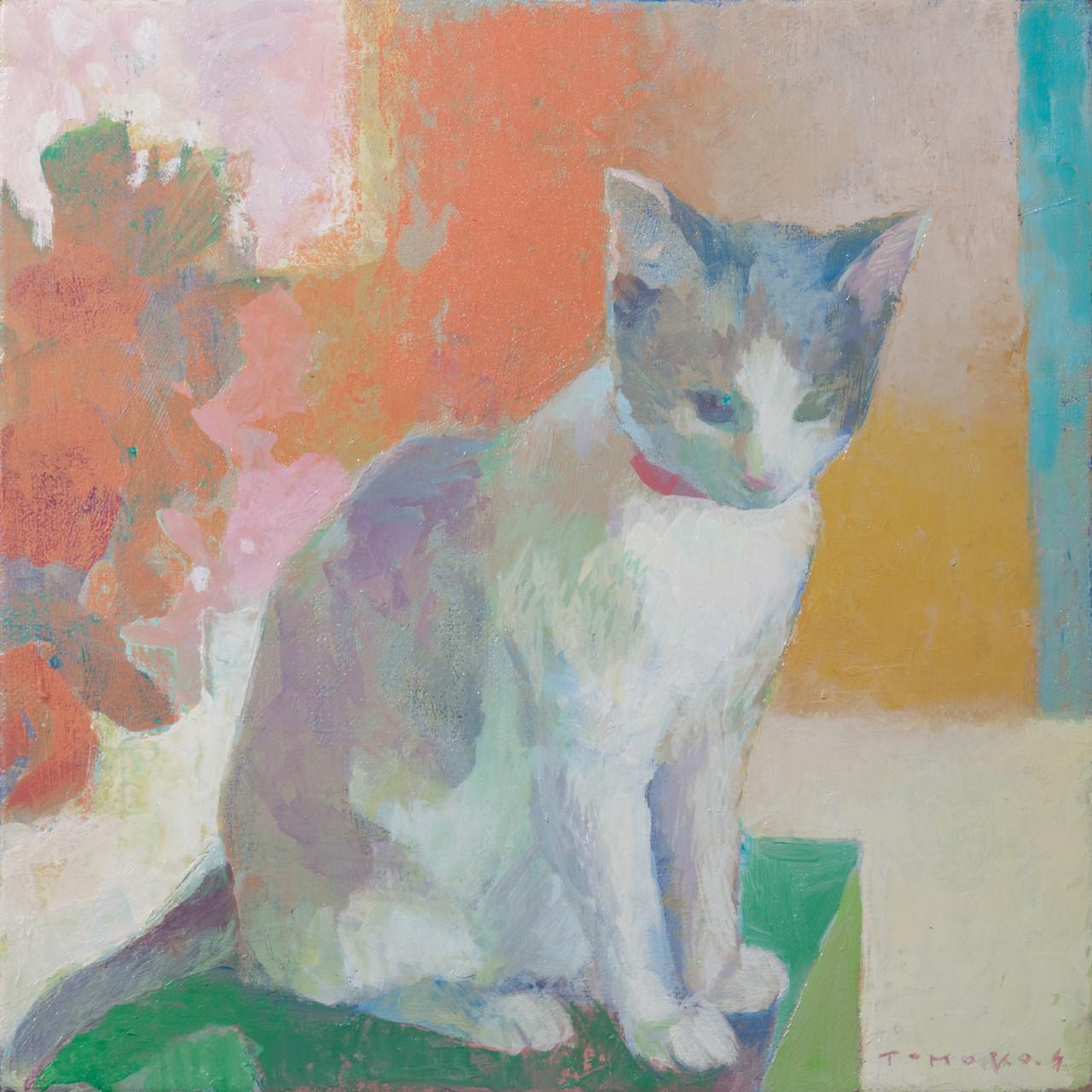『仔猫のまわり』油彩S3号