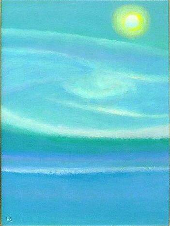 月明の空 油彩20号