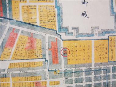 【慶長12年(1607) 家康在城当時駿府絵図】