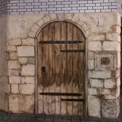 モルタル造形 フェイクの扉