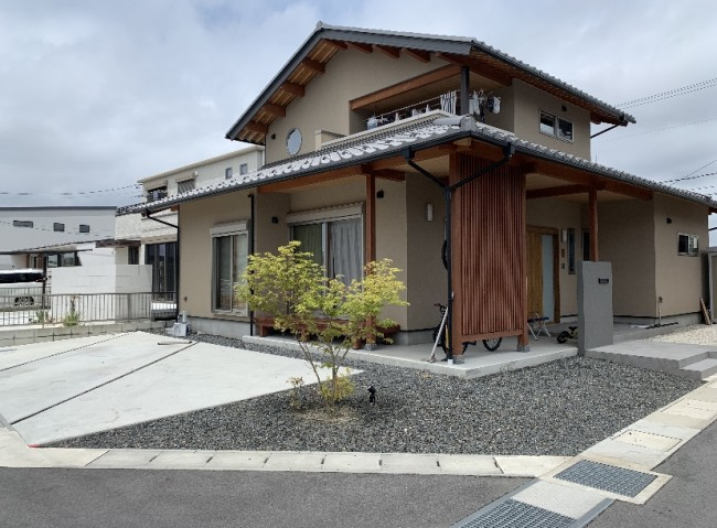 日本家屋にあった和モダンな外構