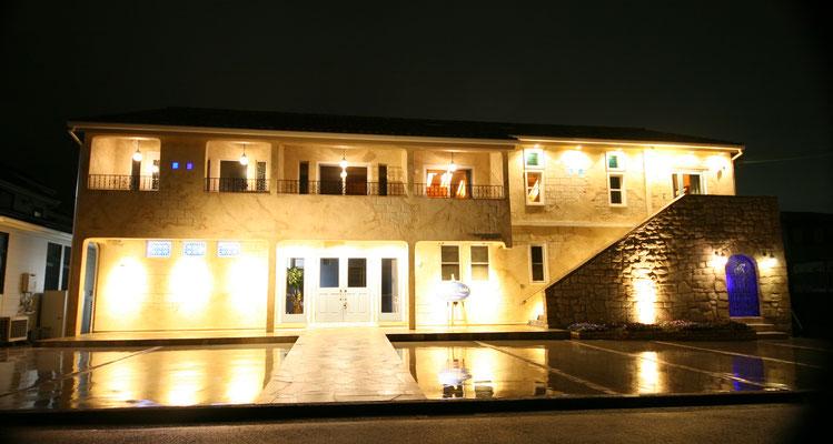 モルタル造形施工事例 ライトアップ