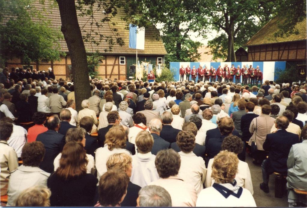 Sängerfest der Heideblume 1986 Unter den Eichen