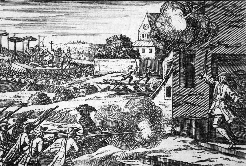 Tod des Kamisardenführers Pierre Laporte