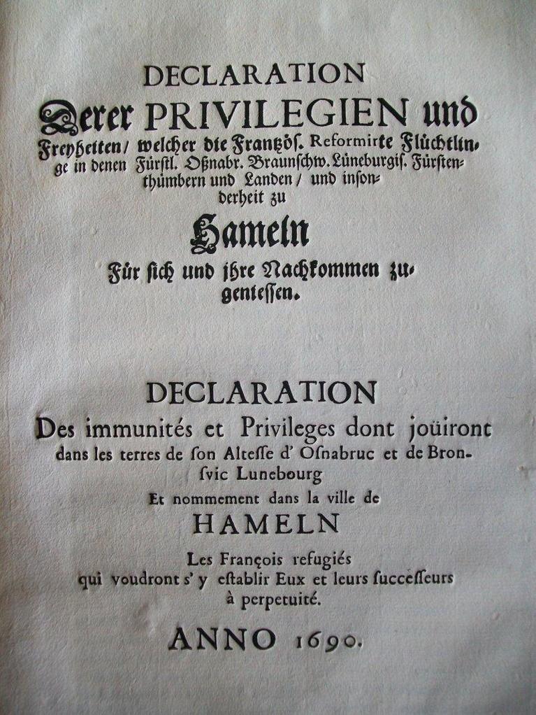 Aufnahmeedikt von Hameln