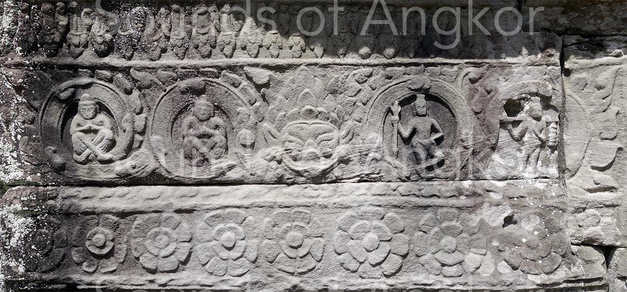Rahu flanqué d'ascètes. Preah Khan d'Angkor.