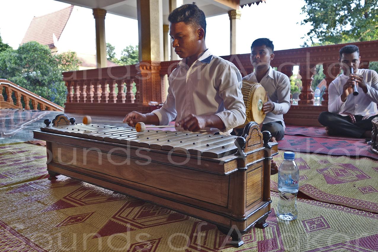 Le roneat thong dek du Vat Reach Bo avec ses 21 lames de bronze.