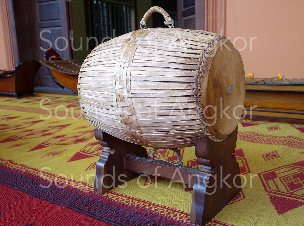 Samphor with leather ligatures. Wat Reach Bo, Siem Reap, 2020.