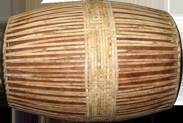 Reconstructed barrel drum. Project manager: P. Kersalé. Maker: Sok Houen. Phnom Penh 2012.
