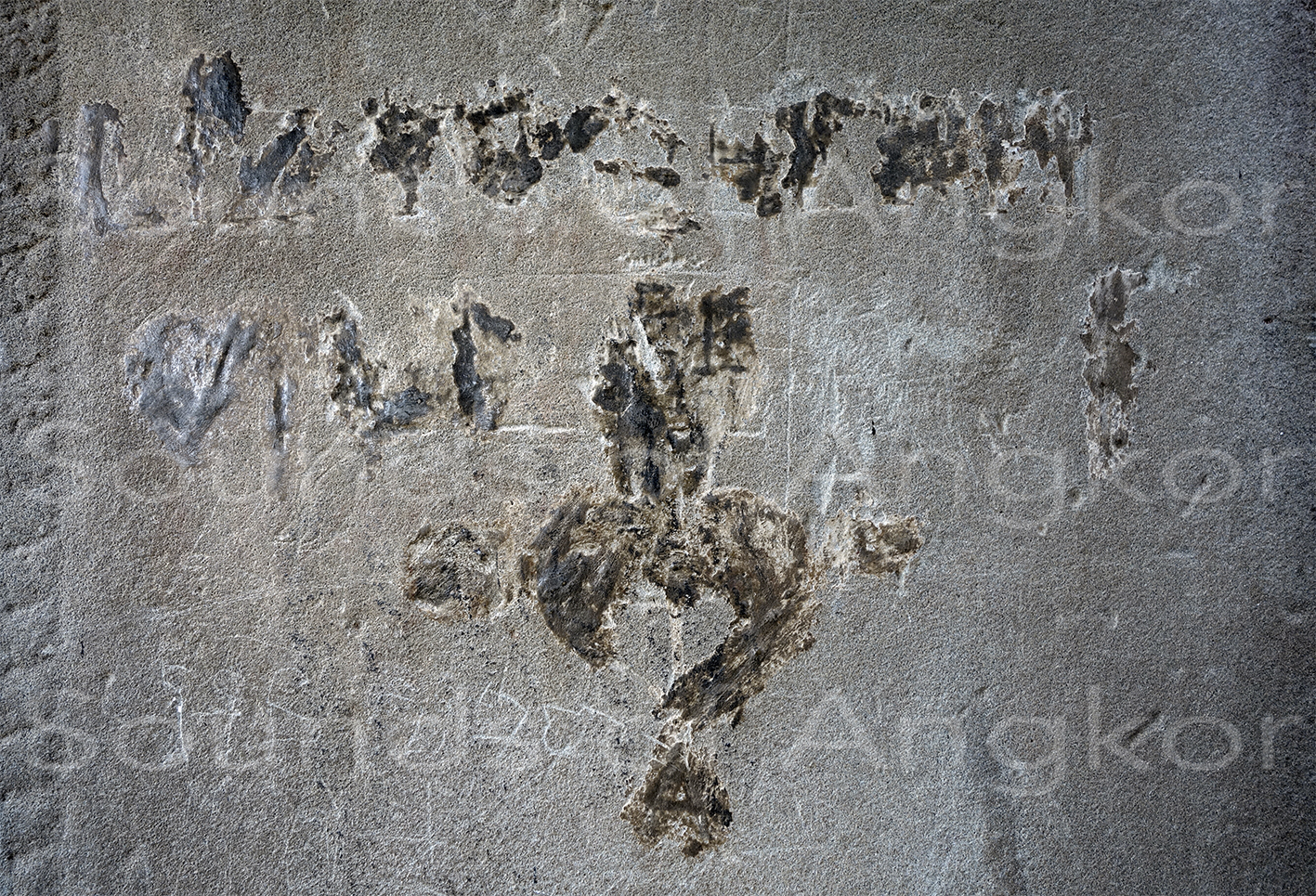 Graffiti below the attested autograph of Émile Gsell where one can read at least LYZ Y GSEL.