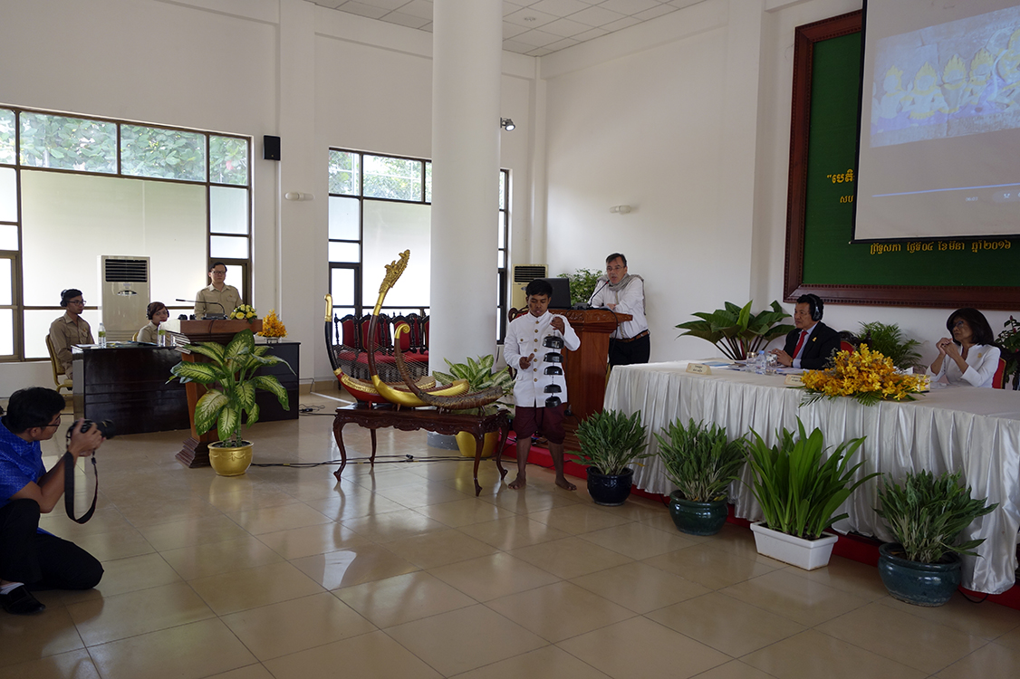 Conference at the Senate of Cambodia in the presence of Her Royal Highness Princess Norodom Buppha Devi. March 4, 2016.