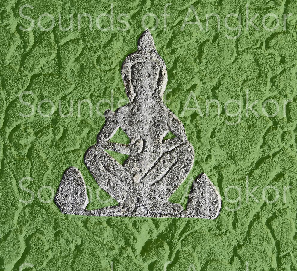 Ermite hindouiste (?) en prière les jambes croisées.