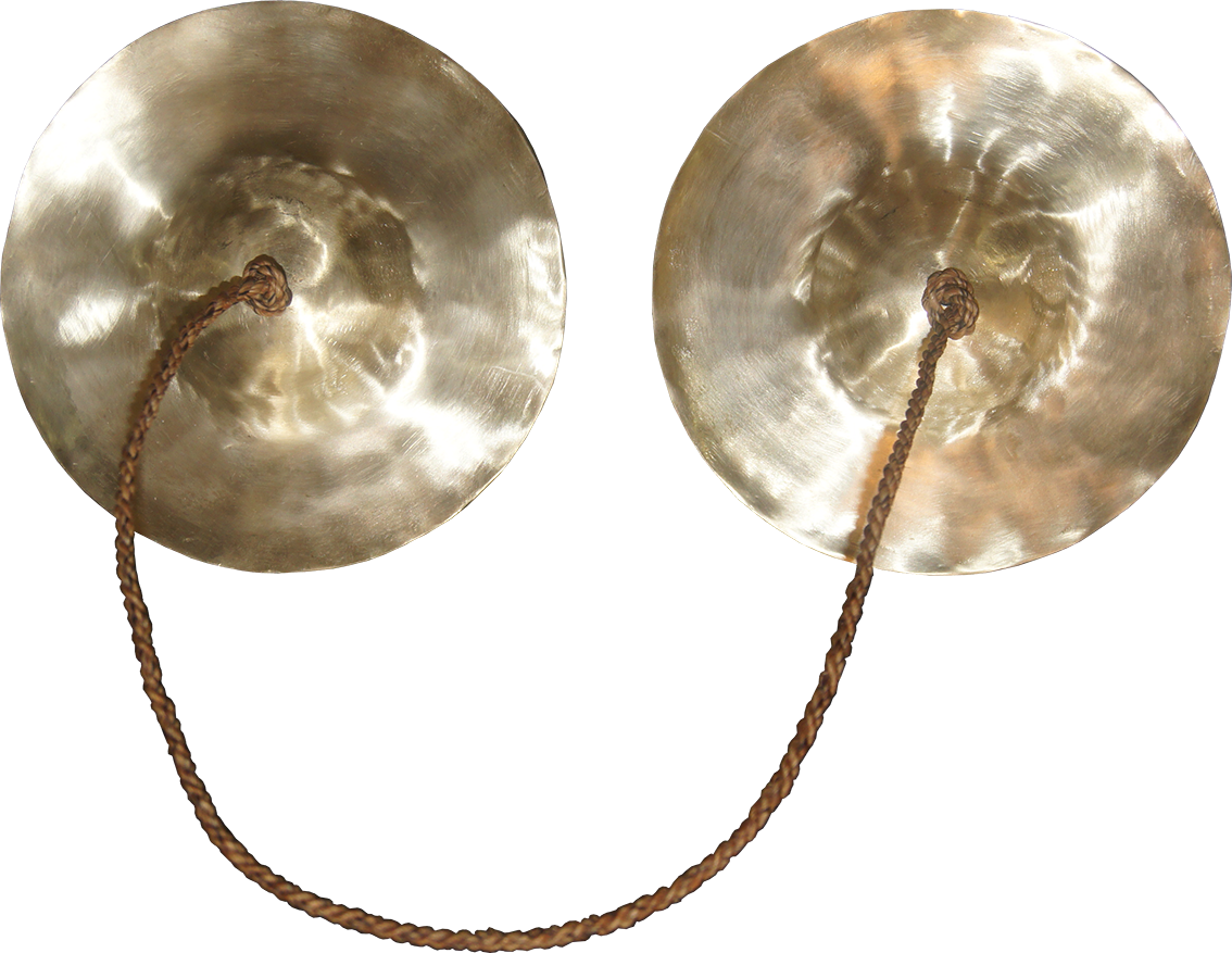 Cymbals seen from the front. Final result after mechanized sanding.