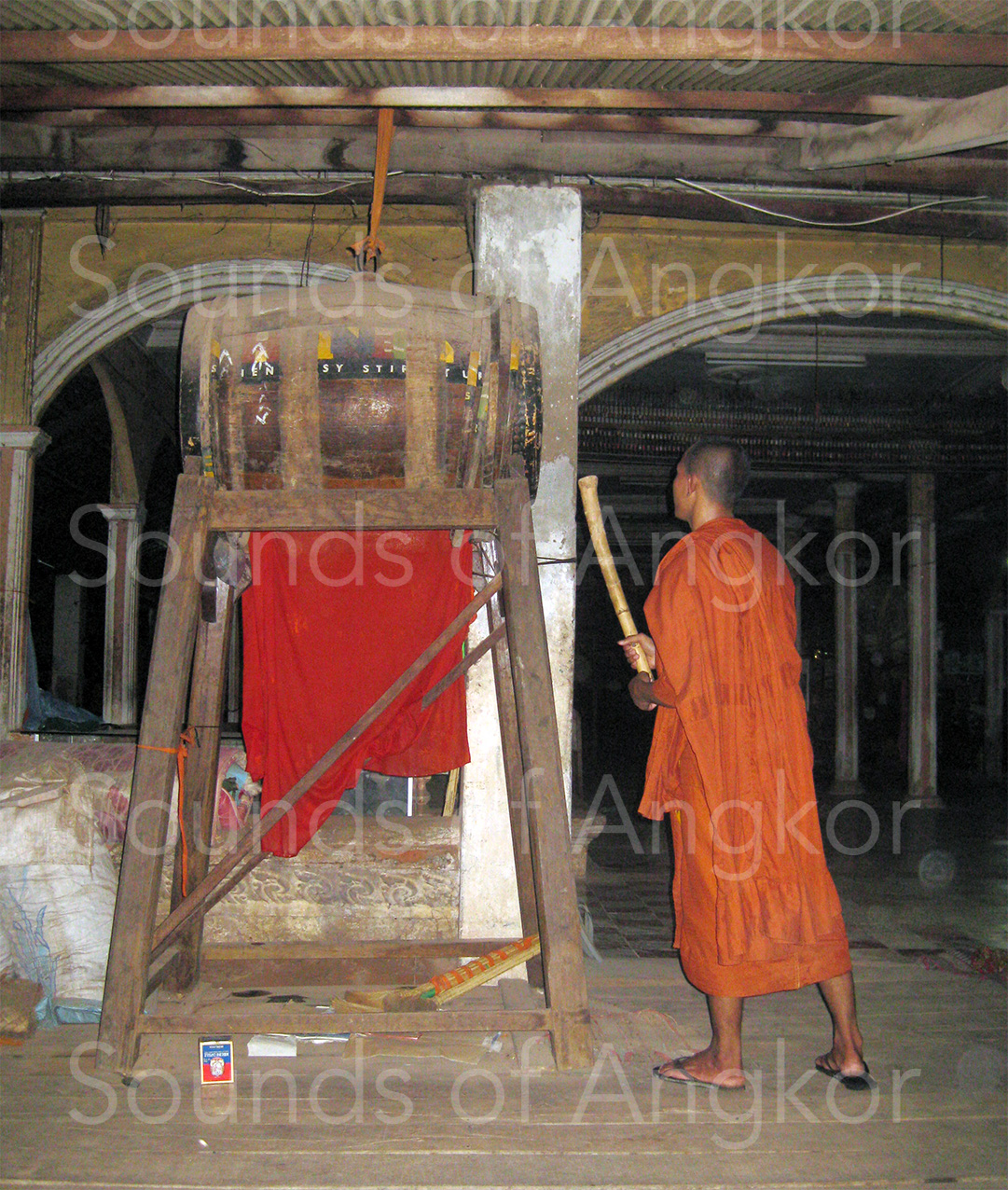 Monk beating the Hennessy drum in the sala. 2010