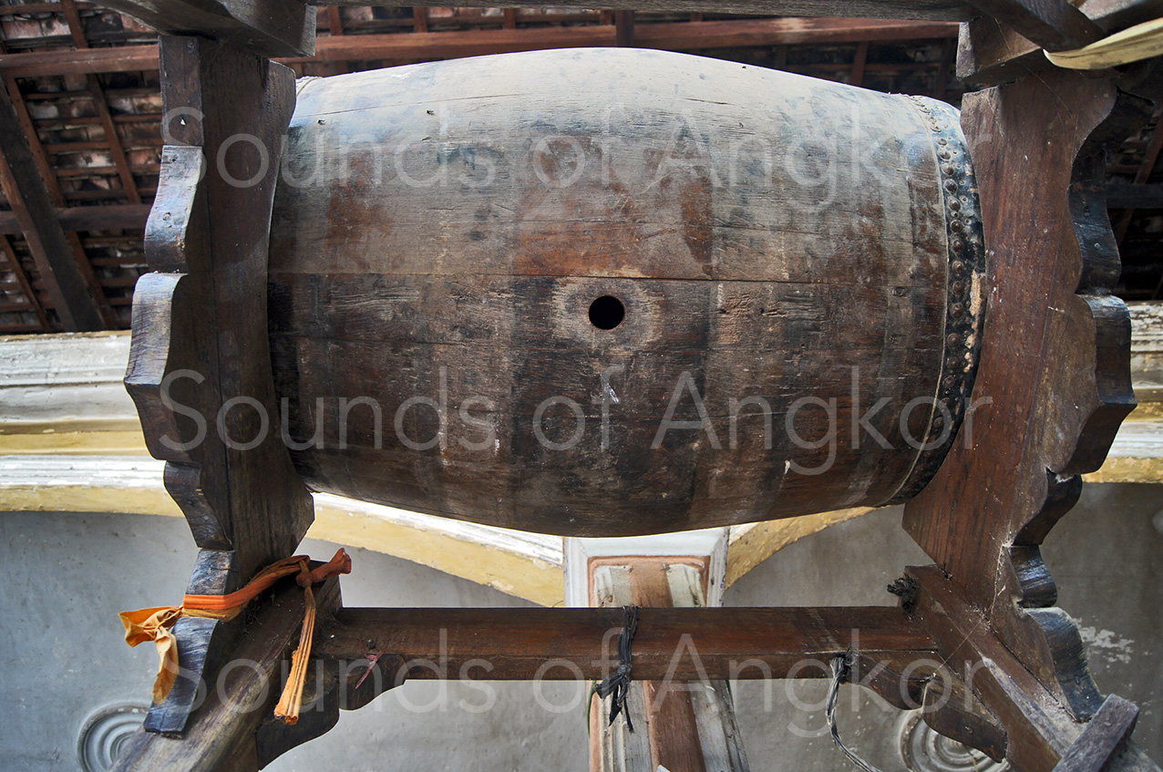 Hennessy drum seen from below; you can see the bung hole. 2013.