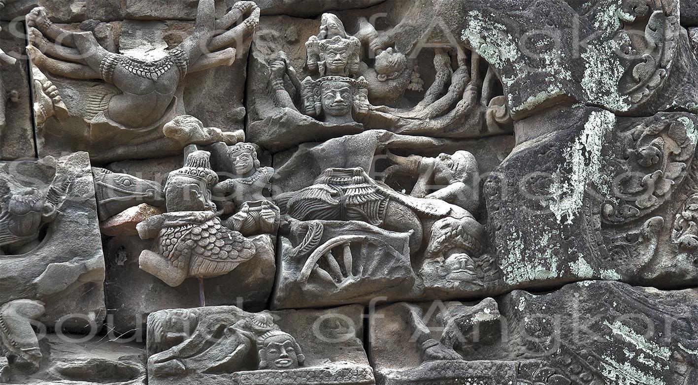 Reap, le roi du Lanka sur son char.