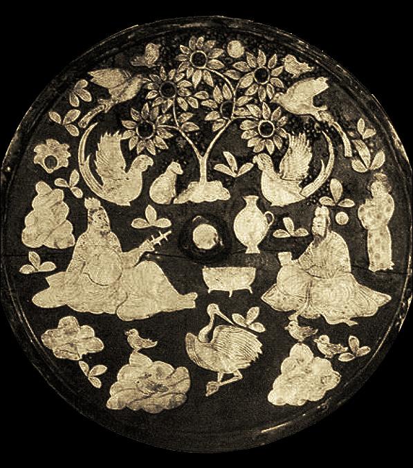 Gravure sur pierre, dynastie du Nord (420-589). LIU Dongsheng, Yuan Quanyou, Zhongguo yinyue shi tujian (Guide illustré de l'histoire de la musique chinoise), Beijing, Renmin yinyue, 1988, II.90 p.64.