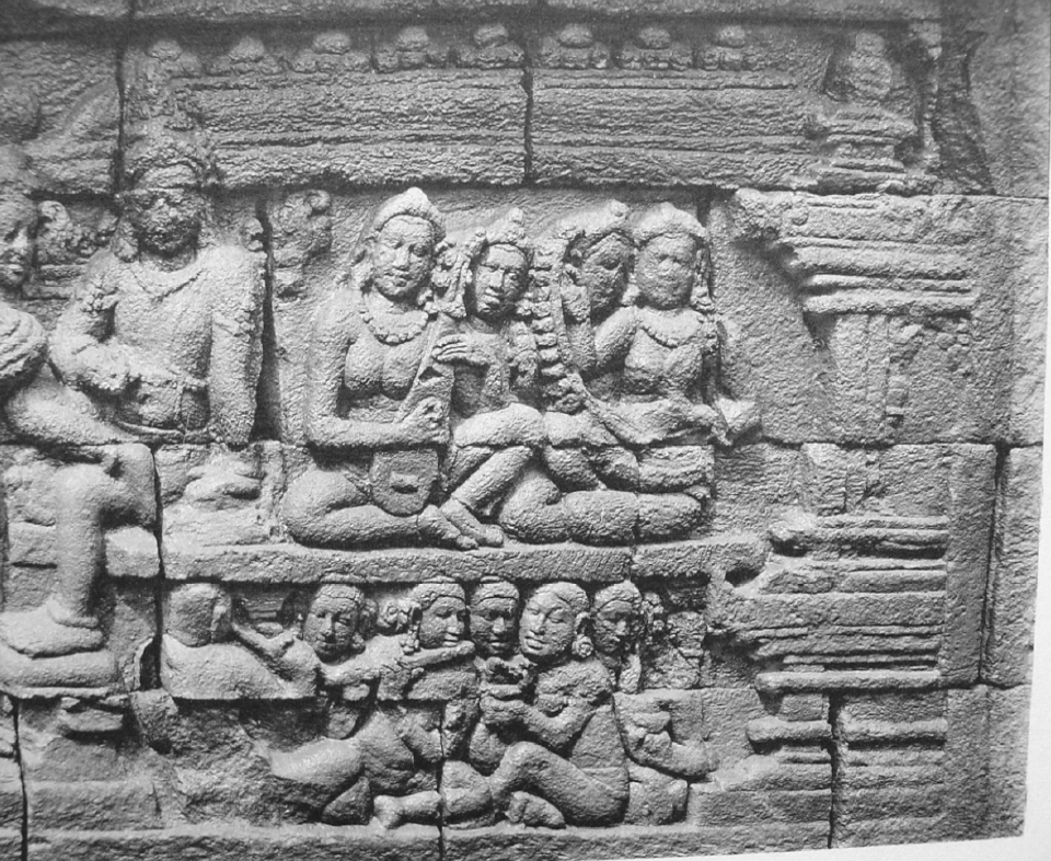 Orchestra with lute. Borobudur. 9th c. photo Kassian Céphas, 1890-91.