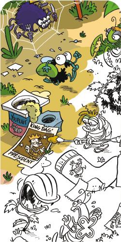 Basile la mouche, dessiné par Olivier Tichit