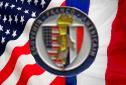 insigne de l'associaition du souvenir franco americain qui celebre le debarquement en provence en 1944