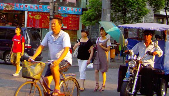 En Chine, la vie urbaine trépidante encourage l'exercice régulier lors des déplacements