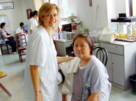 Stage à Shanghaï, hôpital Long Hua avec le professeur Chen.