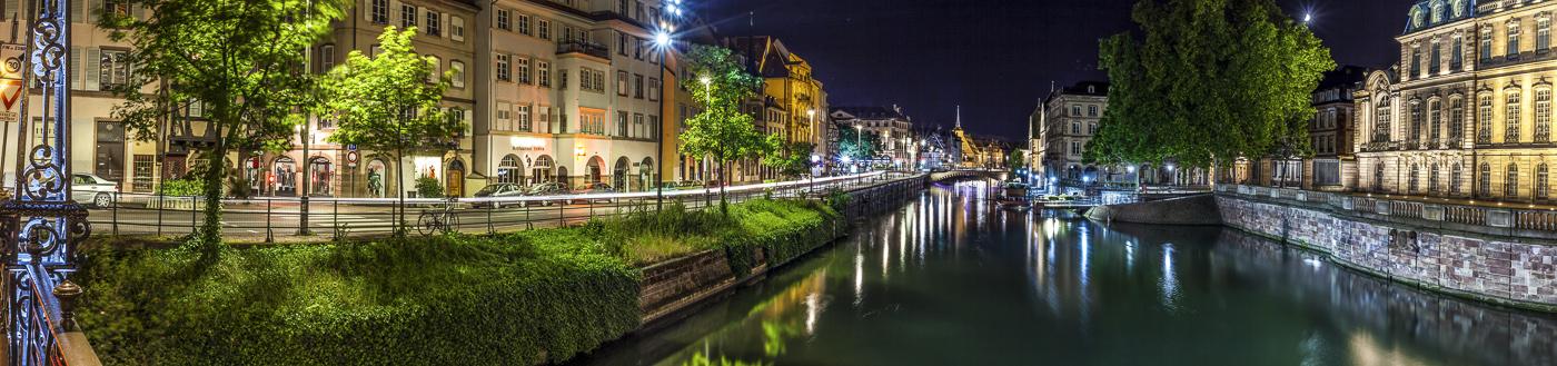 Strasbourg les quais - panoramique HDR - tirage 290mm X 860mm pleine feuille ou 180mm X 575mm avec marges - 130€ réf: straspan-010