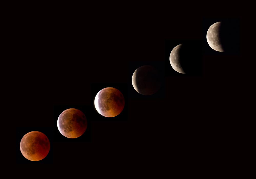 Chapelet de l'éclipse totale de lune du 27 juillet 2018 _ 600mm EOS APSC