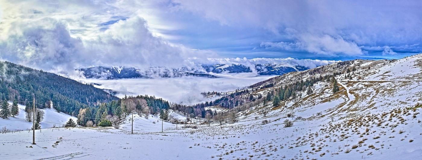 Vosges Les Crêtes - panoramique HDR - tirage 310mm X 860mm pleine feuille ou 200mm X 575mm avec marges - 110€ réf: payspan-009
